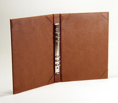 sampul buku menu restoran ring binder mekanik
